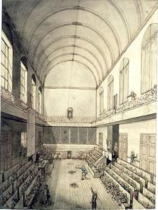 La salle du Manège des Tuileries où se réunit la Convention Nationale